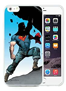 Action Comics White iPhone 6 Plus (5.5) TPU Case,personalized design together with Excellent protection