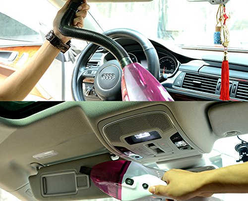 NOOX Car Vacuum Cleaner Portable Wet Dry Hand Held Vacuum In Car Cleaner For Dog Hair Bread Crumbs Food Melon Shells Small Sands Cigarette Butts 120W 4000PA 45 Meter Cord 12V