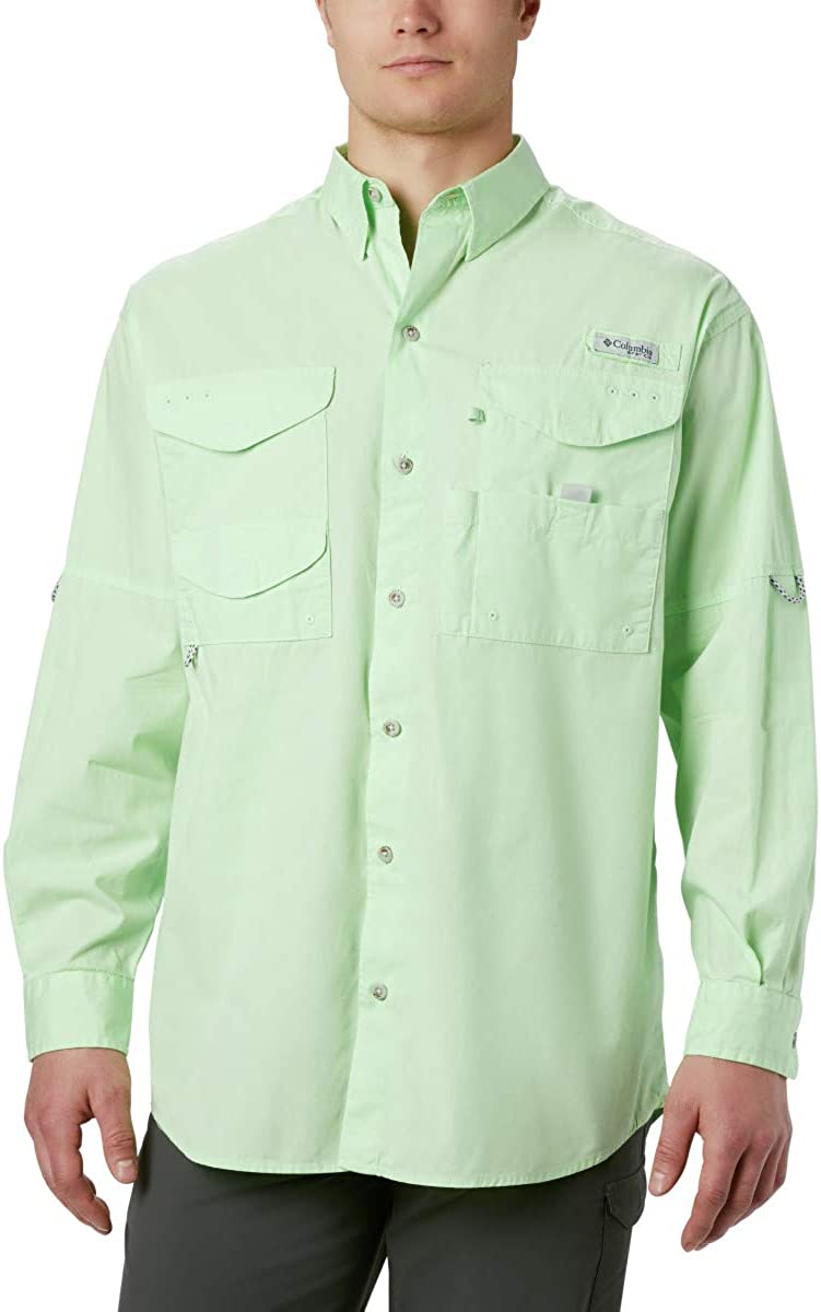 Columbia Mens PFG Bonehead Long Sleeve Shirt, Cotton, Relaxed Fit: Clothing