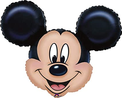 amazon com mickey mouse head mini shape balloon toys games