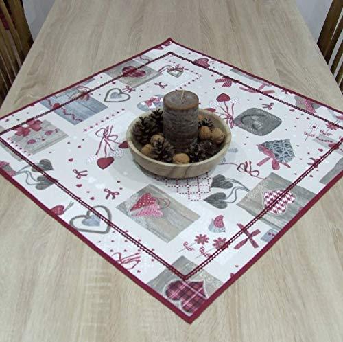 Erstaunliche Kleine Quadratische Tischdecke, Weihnachten, das Beste Geschenk für die schönste Küche von HomeAtelier, Weihnachtsdekoration, Bordeaux Patchwork, 40x40cm, 65x65cm