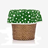 Dark Green Polka Dot Home Decor Designerliners Trash Bags - Stylish Pretty Decorative Biodegradable Garbage Bags - 100 Bag Bulk Pack - 5-6 Gallon Size - 17.75 X 19 - Made in USA