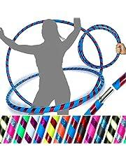 PRO rockringar (Ultra-grepp/Glitter Deco) viktad resa rockring (100 cm/39 tum) rockringar för träning, dans och fitness! (640 g) Inga instruktioner behövs - Skickas samma dag! (UV blå/röd glitter)