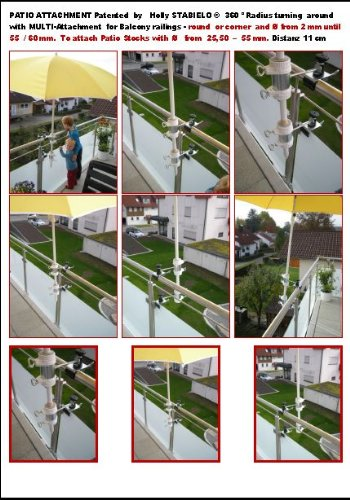 Balkon Sonnenschirm Befestigung Mit 11 Cm Abstand Fur Balkon