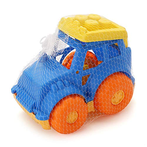 (LotFancy Sand Dump Truck Toy for Kids Toddler, Beach Play Toys for Improving Gross Motor, Sandbox Car Toys for Boys, BPA Free, Phthalates Free, Yellow / Blue / Orange, 9 Inches)