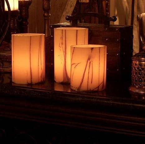 Amazon Com Led Candle Flamless Three Round 5 Diameter