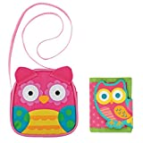 Stephen Joseph Owl Crossbody Purse and Owl Wallet Combo - Little Girl Purses