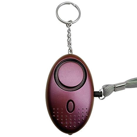 Leezo - Llavero con Alarma Personal de 130 dB, Alarma aprobada por la policía, Mini Alarma de Seguridad contra el pánico con Linterna para Mujeres y ...