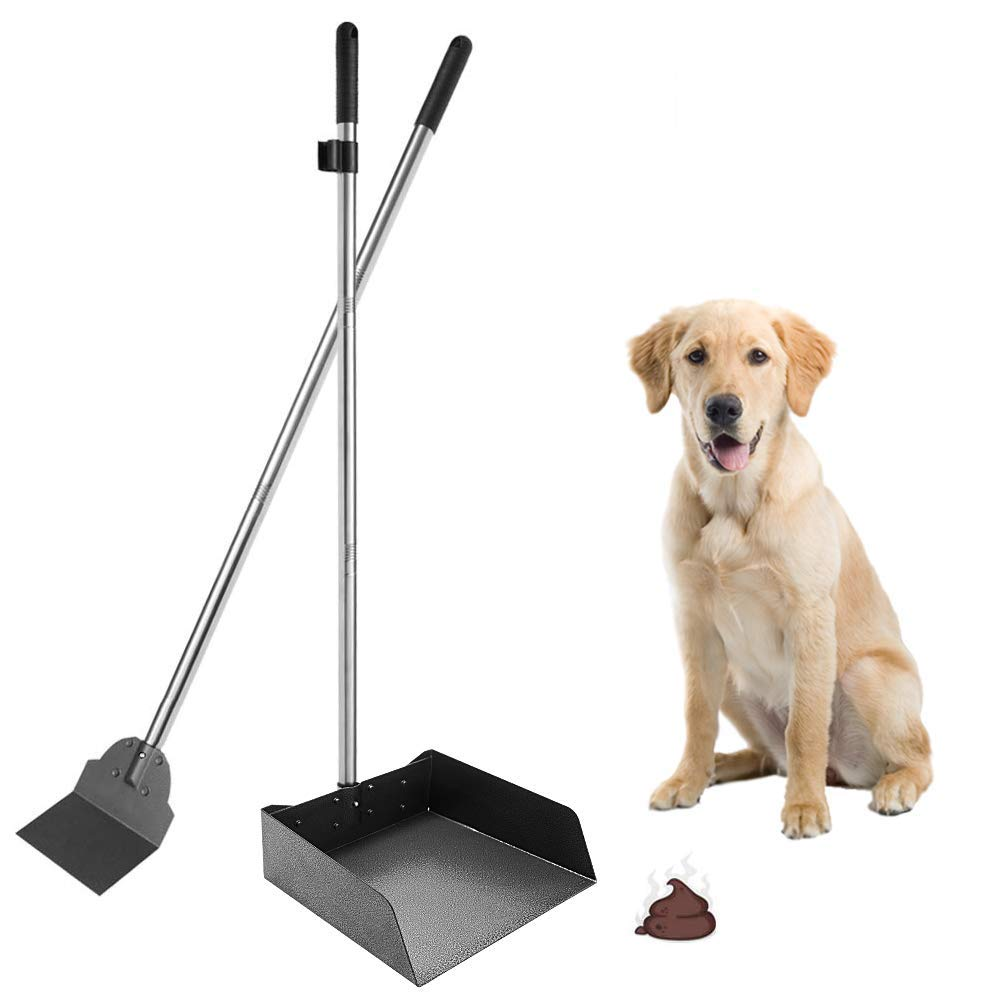 SCENEREAL Pet Poop Tray & Spade Set - Dog Cat Waste Removal Scoop Enlarged Tray with 37.4'' Long Detachable Handle by SCENEREAL