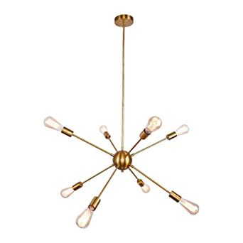 OYI Moderne Suspension Vintage Lustre couleur or Métal Satellite ...