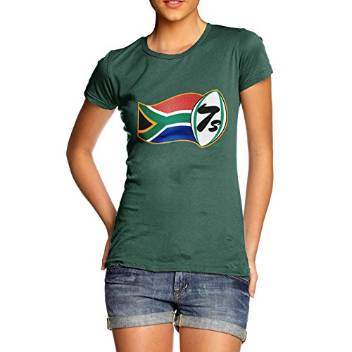 TWISTED ENVY Rugby 7S South Africa Women's Bottle Green T-Shirt - South Africa Online