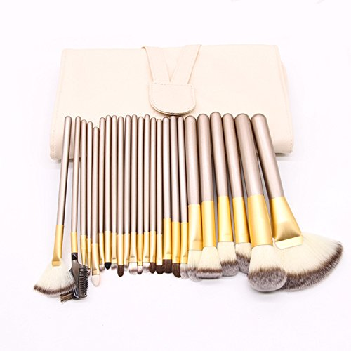 UINO 24pcs Premium Professional Makeup Brushes Premium Makeup Brush Set Synthetic Kabuki Cosmetics Foundation Blending Blush Eyeliner Face Powder Brush Makeup Brush Kit