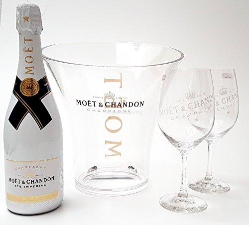 Moet & Chandon Ice Imperial Champagner 75cl (12% Vol) + Flaschenkühler + 2x Gläser