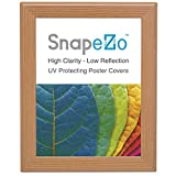 """Light Wood effect Movie Poster Frame 8.5x11 Inches, 1.25"""" Aluminum Profile, Front Loading Snap Display, Wall Mount, Professional Series"""