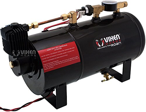 Vixen Horns Loud 135dB 3/Triple Chrome Trumpet Train Air Horn with 1 Gallon Tank and 150 PSI Compressor Full/Complete Onboard System/Kit VXO8410/3311C by Vixen Horns (Image #6)
