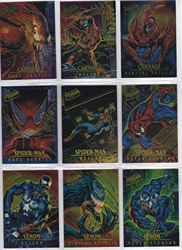 - 1995 Fleer Ultra Spider-Man MASTERPIECES Insert Set of 9 Cards NM/M Marvel