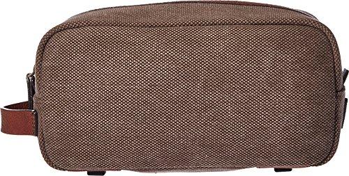 (Bosca Washed Shave Kit (Brown/Dark Brown))