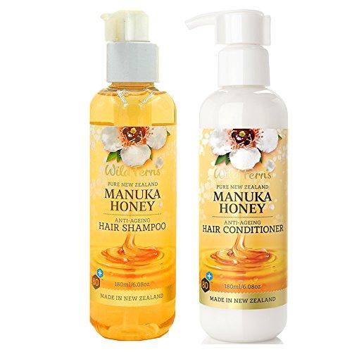 Price comparison product image Wild Ferns Manuka Honey Shampoo and Conditioner Set (2 X 6.08 oz)