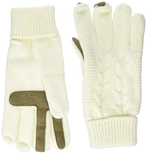 Isotoner Women's Smartouch Solid Triple Cable Knit Glove with Palm Patches