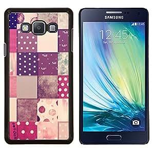 TECHCASE---Cubierta de la caja de protección para la piel dura ** Samsung Galaxy A7 ( A7000 ) ** --patrón de cuadros de diseño de lunares