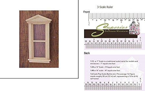 Dollhouse Miniature Federal Pediment Window