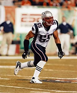 Junior Seau New England Patriots 8x10 High Glossy Sports Action Photo (n)