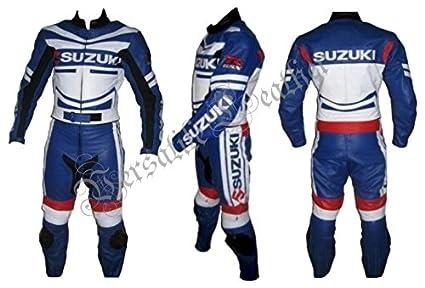 Amazon.es: Suzuki GSX-R azul y blanco, 2 traje traje de piel ...