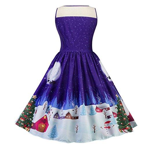 Damen Weihnachtsfeier KleidMoonuy Frauen Mädchen Santa Schneemann ...