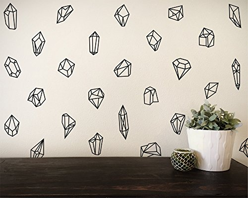 - YINGKAI Geometric Shapes & Gems Wall Decal Set Living Room Vinyl Carving Wall Decal Sticker for Home Window Decoration(50 Pieces Each Set)