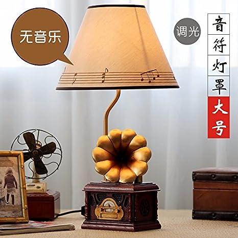 Lampara Retro Tocadiscos dormitorio Lampara de noche con luz ...