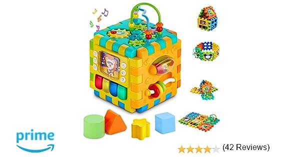 INvench Música Cubo Centro de Actividades - Ligero 6 en 1 ...