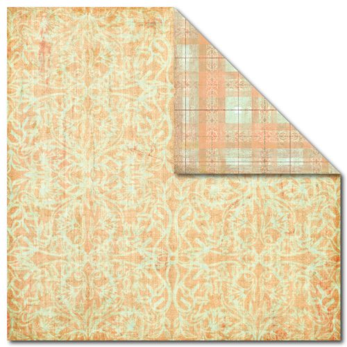 Prima 601881 12 by 12-Inch Lucid Double Sided Patterned Cardstock Paper, Tattered Silk, 25-Pack