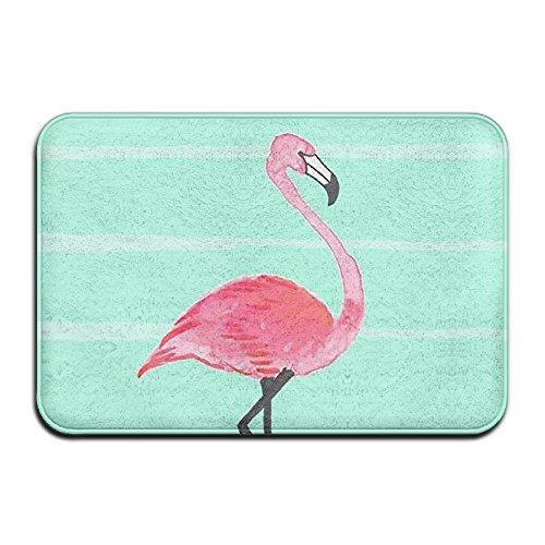 BINGO BAG Pura Vida Flamingo Indoor Outdoor Entrance Printed Rug Floor Mats Shoe Scraper Doormat For Bathroom, Kitchen, Balcony, Etc 16 X 24 Inch by BINGO BAG