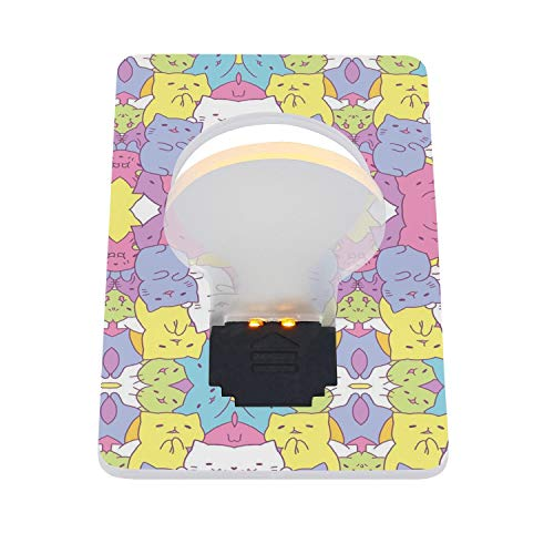 Types of Cats Burmese Kittens House cat Portable LED Card Folding Night Light Family for BabyRoom 2 Pieces