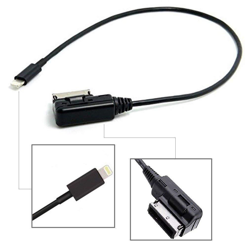 1M AMI MDI MMI AUX Cable Compatible for i-Phone 7 7 Plus 8 8 Plus X for Audi A4 A5 A6 A8 Q5 Q7 R8 TT Volkswagen VW Passat CC Tiguan Touareg