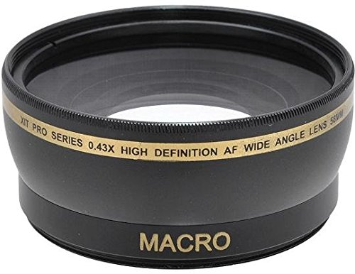 Xit 58mm 0.43x Wide Angle Lens with Lens Ring Adapter For Canon PowerShot SX60 SX50 SX40 HS SX30 SX20 2X10 IS