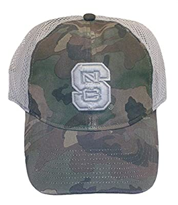 NC State Wolfpack adidas Adjustable Snapback Camo Slouch Hat by ADIDAS