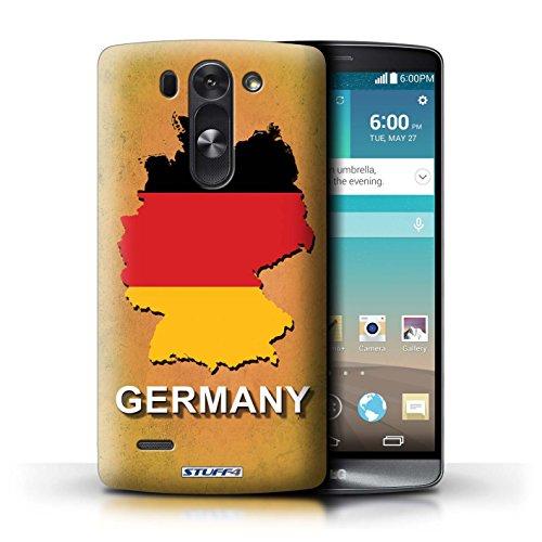 Kobalt® Imprimé Etui / Coque pour LG G3 S (Mini)/D722 / Allemagne/Allemand conception / Série Drapeau Pays