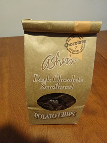 Chocolate Asher Pretzels (Ashers Dark Chocolate Covered Potato Chips, 8.5 Ounce Bag.)