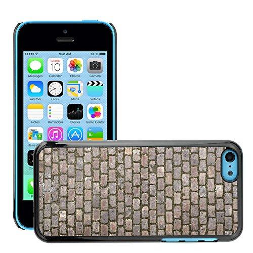 Premio Sottile Slim Cassa Custodia Case Cover Shell // V00002029 Cobblestone texture // Apple iPhone 5C