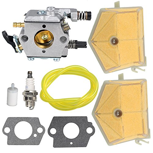 Butom 503281504 Carburetor with Air Filter Tune Up Kit for Husqvarna 51 55 Chainsaw WT-170-1 WT-170 (Husqvarna 51 Air Filter)