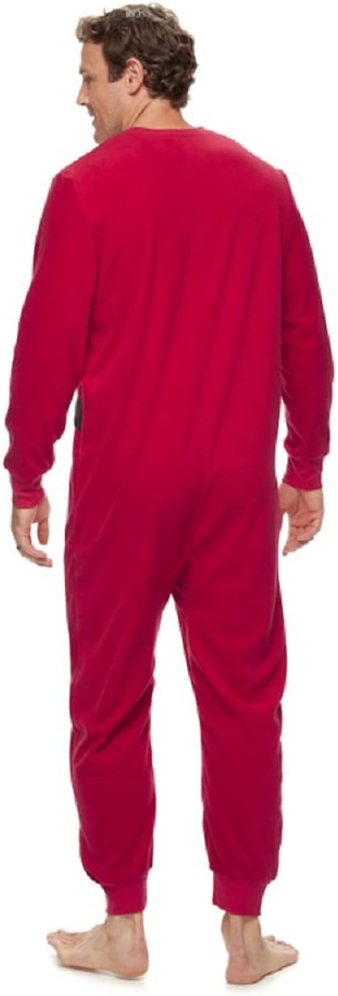 Only Faith Mens Long Sleeve Thickening Coral Fleece Pajamas Homewear Suit