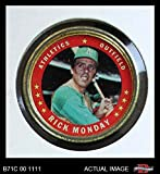 1971 Topps Coins # 40 Rick Monday Oakland Athletics (Baseball Card) Dean's Cards 3 - VG Athletics