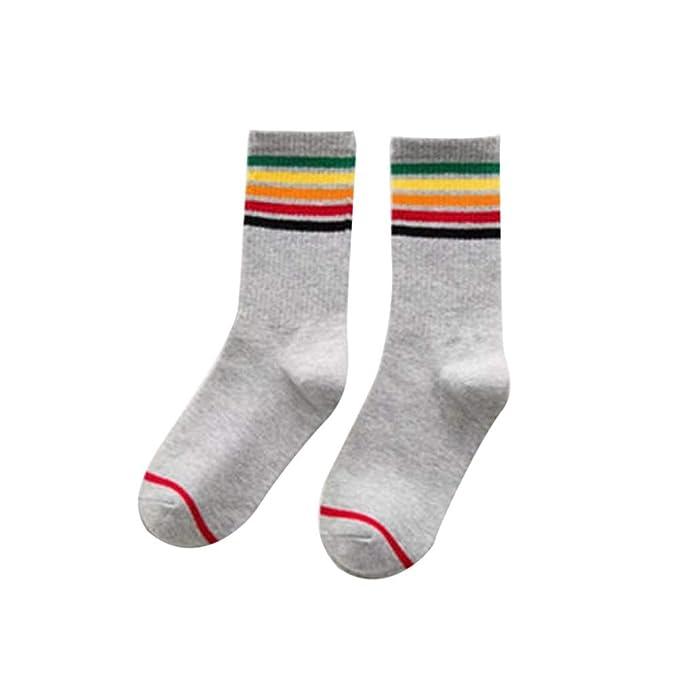 Rabattgutschein Fabrik authentisch 100% echt XuxMim Mode Frauen Regenbogen Socken Striped Print Baumwolle ...