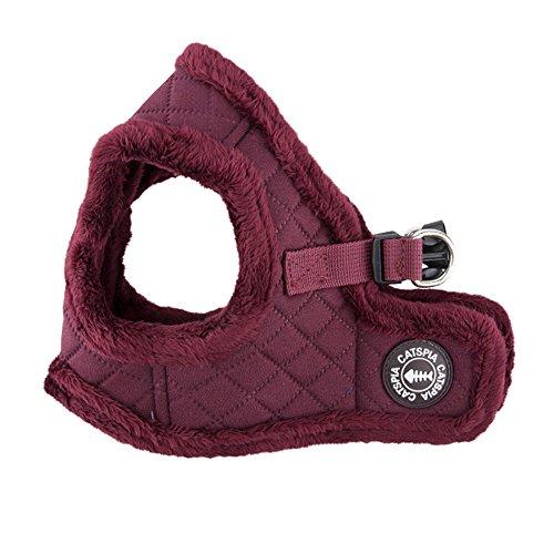 CATSPIA Castor Vest Harness for Pets, Wine, Large (Puppia Diamond Vest Harness)