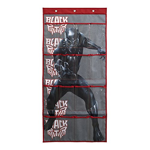 - Marvel Black Panther for Boys Shoes | Shoe Organizer for Boy Shoes | 16-Pocket Hanging Shoe Organizer for Closet and Bedroom Storage | Over the Door Shoe Organizer for Children, Kids Toys