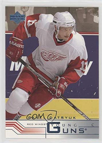 (Pavel Datsyuk (Hockey Card) 2001-02 Upper Deck - [Base] - Retail Young Guns #422 )