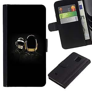 All Phone Most Case / Oferta Especial Cáscara Funda de cuero Monedero Cubierta de proteccion Caso / Wallet Case for Samsung Galaxy Note 4 IV // Daft Band