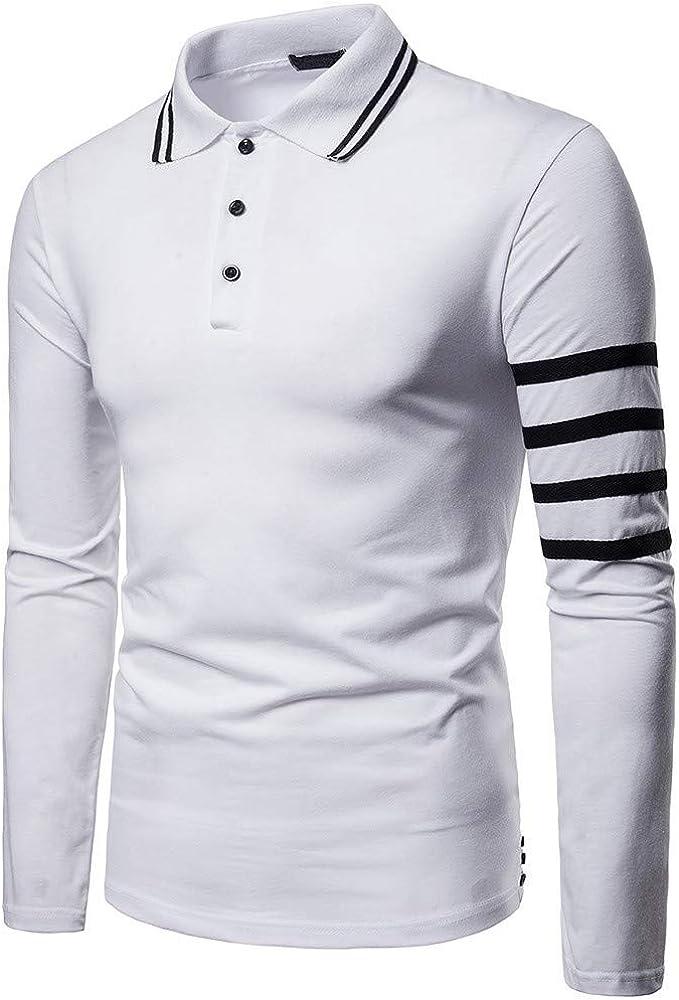 OPAKY Camisa de Manga Larga para Hombres de Negocios con Botones a ...