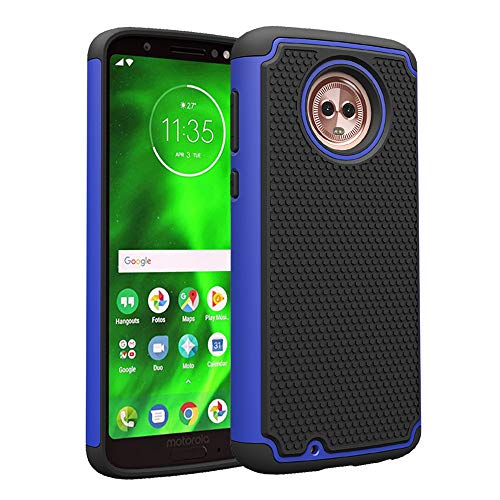 ne Case with Tempered Glass Screen Protector Rugged Protective Heavy Duty Full Body Rubber Cell Accessories Slim Hard Cover for MotoG6 G 6th Gen 6 6G XT1925DL XT1925 XT1925-6 Women ()